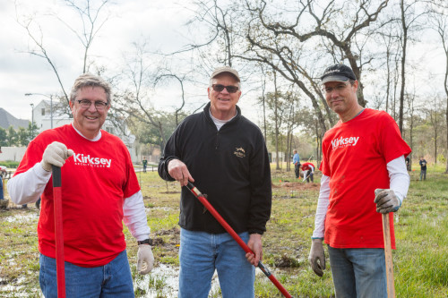Image for Kirksey Plants Trees to Honor Clients